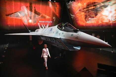 A prototype of Russia's prospective fighter jet