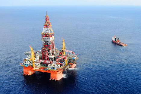 China oil rig