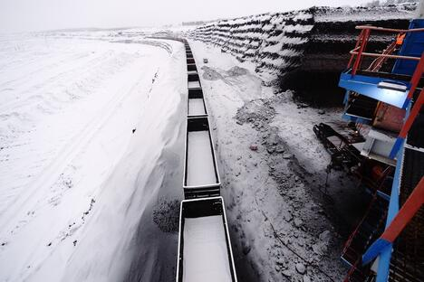 Coal mining in Russia