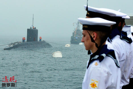 Rehearsal of Russian Navy Day CN