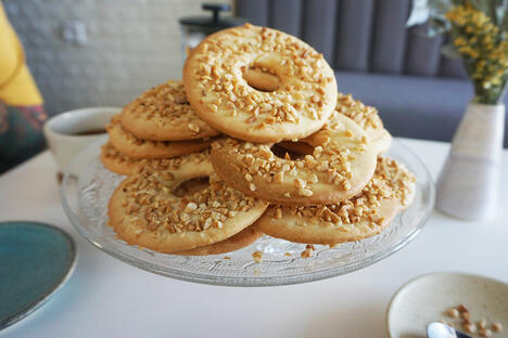 Ring shortbread cookies