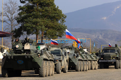 Russian peacekeepers at Nagorno-Karabakh