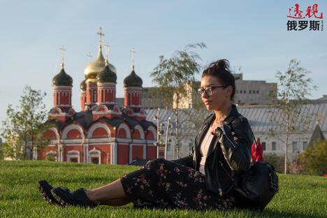 Girl in Zaryadye park