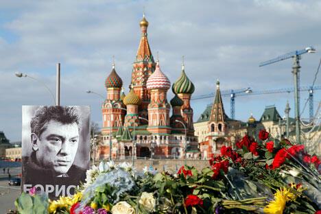 A portrait of Kremlin critic Boris Nemtsov