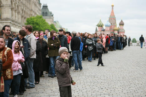 Tutti in fila per la Notte dei Musei (Foto: Itar-Tass)