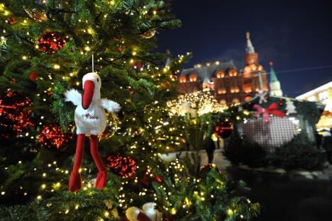 莫斯科的新年枞树。图片来源:俄新社