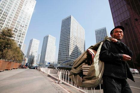 中国北京的国贸中心地区。摄影:AFP East News