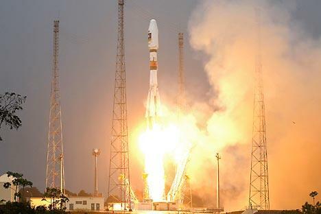 """按计划,2015年俄罗斯和世界航天界的""""老将""""——""""联盟""""2号将在""""东方""""航天发射场发射升空。摄影: Reuters/Vostok-Photo"""