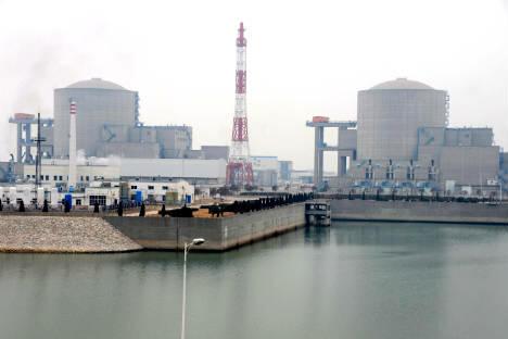 田湾核电站,江苏省。摄影:AFP