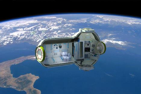 """五月末,太空探索技术公司的""""龙""""号私人飞船向国际空间站输送了半吨的食品和科学仪器。来源:塔斯社"""