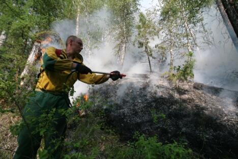 受2010年火情影响的土地总面积超过了120万公顷;而今年大火覆盖的官方数字尚未公布,但在2012年7月底的初步评估数据就已经非常惊人了。图片来源:俄新社