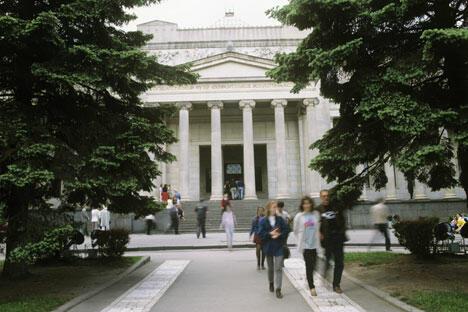 普希金博物馆收藏的印象派和后印象派艺术作品集在世界上首屈一指。图片来源:俄新社