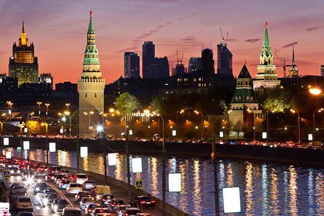 日落时分的克里姆林宫。图片来源:路透社