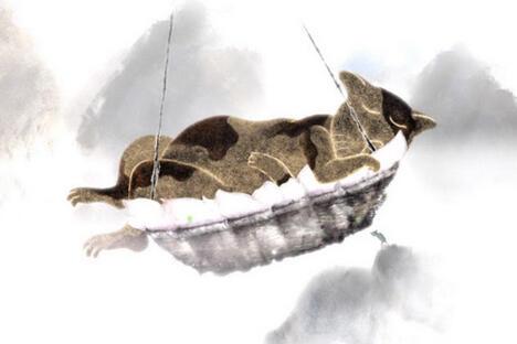 德米特里·盖勒指导中国学生制作的动画影片《我看到老鼠埋葬猫》。图片来源:吉林动画学院网站