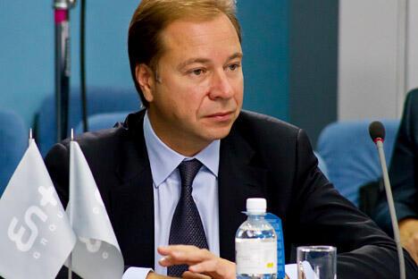 图中:阿尔乔姆·沃利涅兹,俄罗斯En+集团首席执行官。图片来源:塔斯社