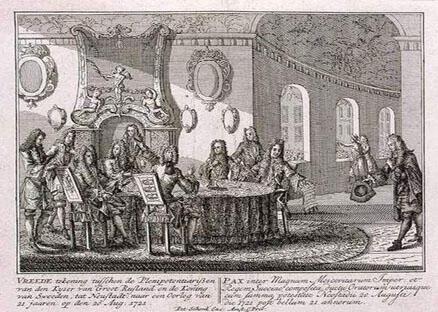 俄国瑞典签署《尼斯塔德条约》