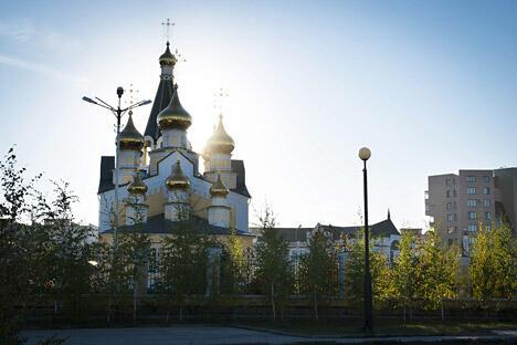 雅库茨克的显圣教堂。图片来源:塔斯社