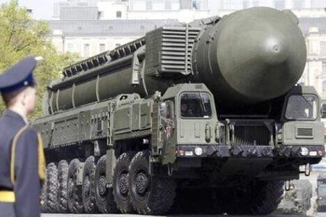 """图中:""""压死"""" (Yars) 移动式RS-24 洲際彈道飛彈。来源:Press Photo"""