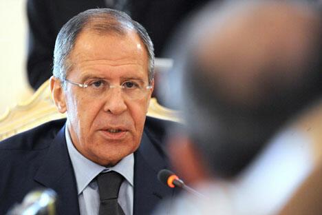 """俄罗斯外交部长谢尔盖·拉夫罗夫:如果谈到""""重启"""",考虑这个词来源于电脑术语就会明白,这项政策不可能永远持续下去,否则就不能称之为""""重启"""",而是程序崩溃。图片来源:塔斯社"""