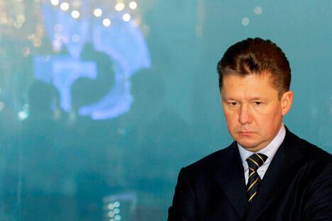 俄罗斯天然气工业股份公司董事会主席阿列克谢•米勒表示,公司将加快实施东部天然气计划。图片来源:AP