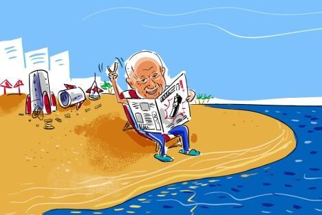 图中:赫鲁晓夫(Nikita Khruschev)苏联总理。制图:Alexei Yorsh