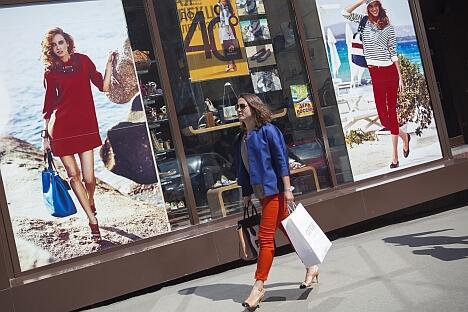 明年俄罗斯还将成为欧洲最大的服装、鞋类、饰品及广告市场,销售总额预计将达768亿美元。图片来源:Corbis / FotoSA