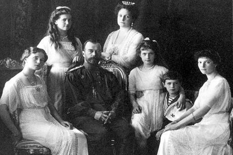 尼古拉二世沙皇全家福