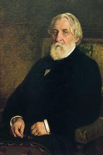 伊凡•屠格涅夫肖像。伊里亚·列宾创作于1874年。