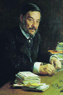 《伊万·谢东诺夫肖像》伊利亚·列宾作于1889年。藏于特列季亚科夫画廊