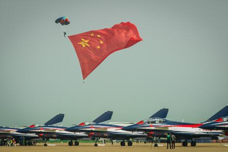 第九届中国国际航空航天博览会在珠海开幕。来源:新华社