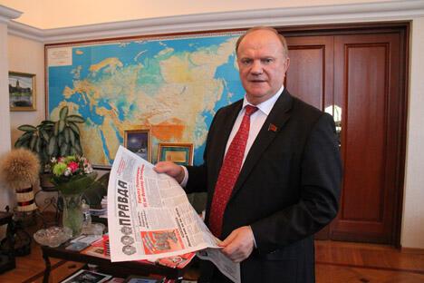 俄罗斯共产党中央委员会主席久加诺夫。 摄影:人民网记者 屈海齐