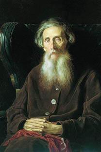 《达利肖像》瓦西里·佩罗夫作于1872年,藏于特列季亚科夫画廊