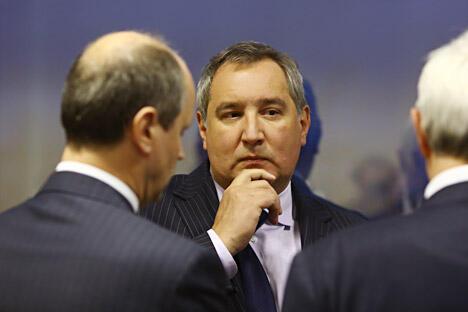 图中:俄罗斯联邦副总理德米特里·罗戈津(Dmitry Rogozin)。图片来源:塔斯社