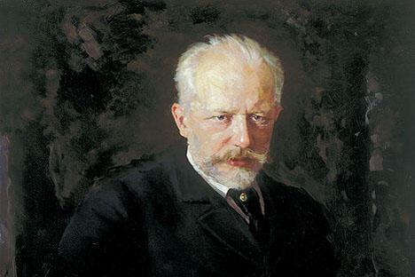 《彼得•柴可夫斯基肖像》尼古拉·库兹涅佐夫作于1893年,藏于特列季亚科夫画廊