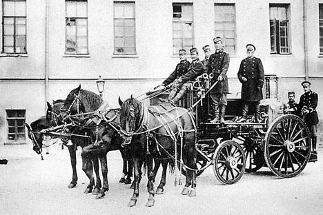 莫斯科消防队,1900年。