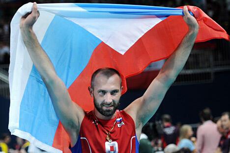图中:排球名将谢尔盖·捷久辛(Sergey Tetyukhin)。图片来源:塔斯社