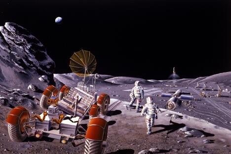 2015年月球-水珠1号航天器发射之后,俄罗斯科学家将开始大规模月球开发行动。图片来源:美国航空航天局/Wikipedia