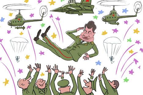军事教育领域也发生了重大变化。终止停办了一些军事院校,军校培训期由前任部长时期实行的10个月延长 至2年,恢复了苏沃洛夫军校的操练,没有这样的操练无法培养出合格的遵守纪律的未来的军官。制图:Elkin