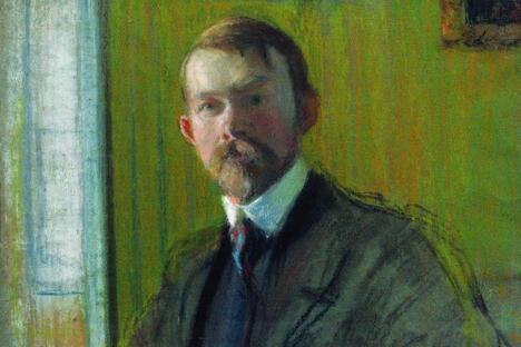 鲍里斯•库斯托季耶夫自画像。