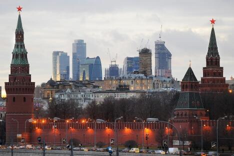 现代莫斯科。图片来源:俄通社-塔斯社