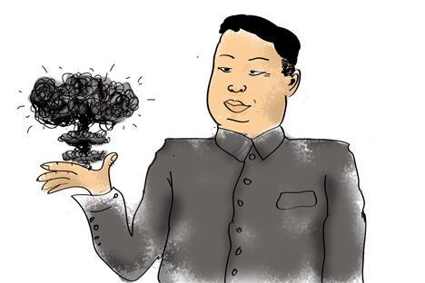 如果各国媒体的报道可信的话,那么在过去几天里朝鲜政府已经竭尽所能地在制造好战言论。制图:Niyaz Karim