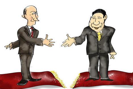 俄中经贸往来规模与政治关系发展不匹配 习近平首访网望有所改善。制图:Niyaz Karim
