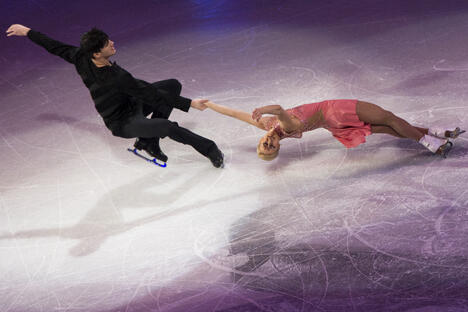 俄罗斯运动员赢得花样滑冰世锦赛一金一铜两枚奖牌。图片来源:俄新社