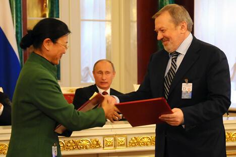 """""""俄罗斯之声""""将与""""人民网""""展开全面合作。图片来源:俄罗斯之声"""