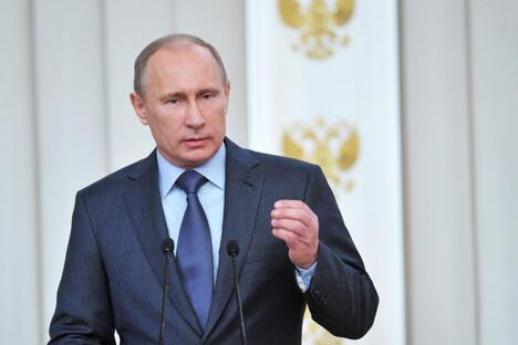 """普京:""""俄罗斯和中国是两名有影响力的国际社会成员,是联合国安理会常任理事国,也是世界最大的经济体之一。""""图片来源:AP"""