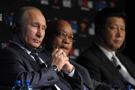 最近的一期金砖国家首脑会议于 3月26日在南非德班开幕,预计将就该集团的进一步发展产生一些重 要决定,而非洲主题并不是议事日程的最后一个项目。图片来源:塔斯社