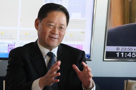 图中:中国国际广播电台台长王庚年。图片来源:俄罗斯报