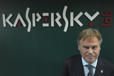 """《生意人报》就发展问题专访""""卡巴斯基实验室""""创始人卡巴斯基。图片来源:俄新社"""