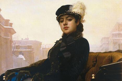 《无名女郎》。伊凡•克拉姆斯柯伊画,1883年。特列季亚科夫画廊。