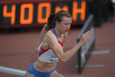 伦敦奥运会上的俄罗斯26岁的赛跑运动员埃琳娜·丘拉科娃(Elena Churakova)因兴奋 剂事件被禁赛两年。图片来源:俄新社